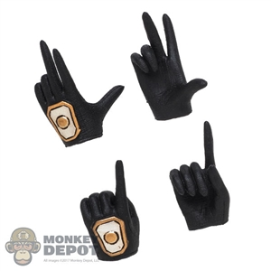 Hands: TBLeague Female Molded Black Hand Set