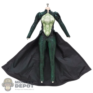 Outfit: TBLeague Female Green/Black Leather-Like Suit