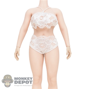 Bikini: TBLeague White Lace Top + Bottoms