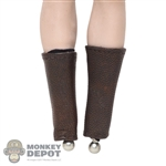 Armor: TBLeague Female Brown Leatherlike Leg Guards w/Black Sleeves