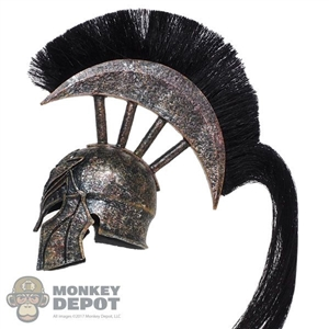 Helmet: TBLeague Female Spartan Helmet w/Black Plume