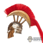 Helmet: TBLeague Female Spartan Helmet w/Red Plume