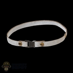 Belt: TBLeague Female White Leatherlike Thigh Strap