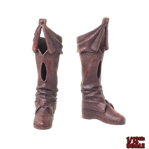 Boots: TBLeague 1/12th Female Molded Boots (Bloody)