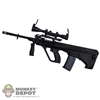 Rifle: Play Toy Black AUG Assault Rifle w/Scope