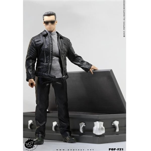 Clothing Set: POP Toys Leather Jacket Robot w/Coffin (POP-F21)