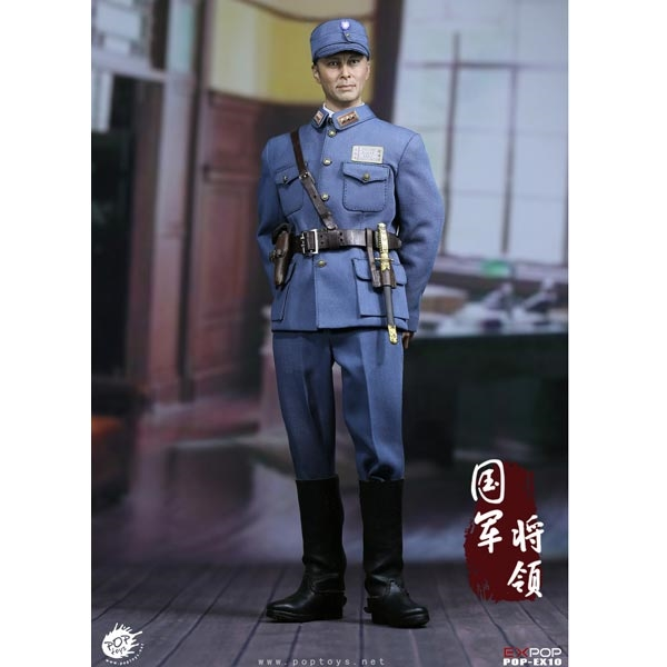 Chinese long jacket POPTOYS 1//6 Scale EX10 Sword Heroes Of Nationalist General