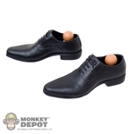 Shoes: POP Toys Molded Black Dress Shoes w/Ankle Pegs