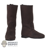 Boots: POP Toys Mens Suede-Like Brown Boots