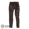 Pants: POP Toys Mens Brown Leather-Like Pants