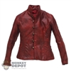 Coat: POP Toys Mens Red Leather-Like Jacket