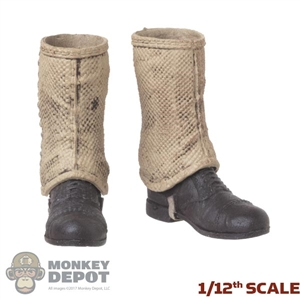 Boots: POP Toys 1/12th Mens Molded Boots w/Gaiters