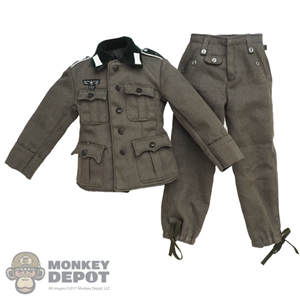 Uniform: Royal Best German WWII M36 Wool Field Tunic Grey w/Insignia