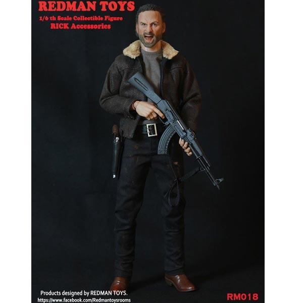1//6 Scale Blade Rick Pistol w// Holster Redman Action Figures