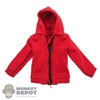 Coat: Redman Female Teenage Red Hooded Jacket