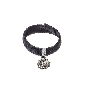 Necklace: Redman Female Teenager Black Choker w/Sun Charm