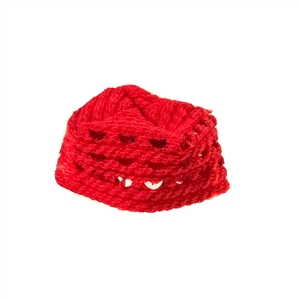 Hat: Redman Female Teenager Red Knitted Cap