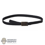 Belt: Redman Mens Black Belt w/Metal Buckle