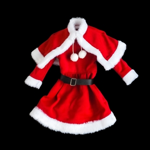 Outfit: Star Ace Teenage Girls Santa Costume w/Belt (READ NOTES)