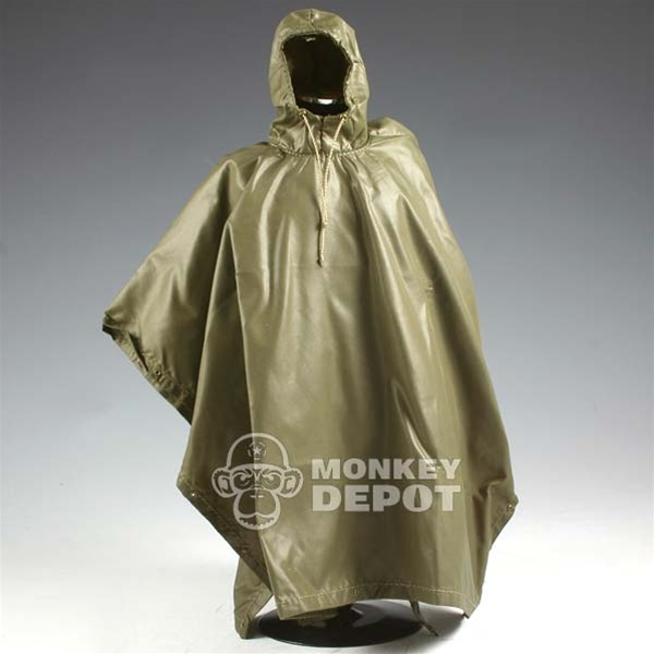 Poncho: Barrack Sergeant US Army Rubber Nylon w/Hood