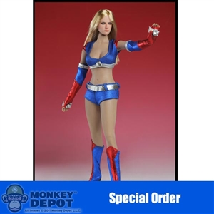Clothing Set: Super Duck Blue Cheerleading Outfit (SUD-C008B)