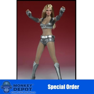 Clothing Set: Super Duck Silver Cheerleading Outfit (SUD-C008C)