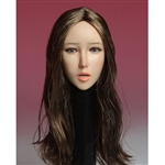Head: Super Duck Asian Head Sculpt w/Brown Hair (SUD-SDH006B)