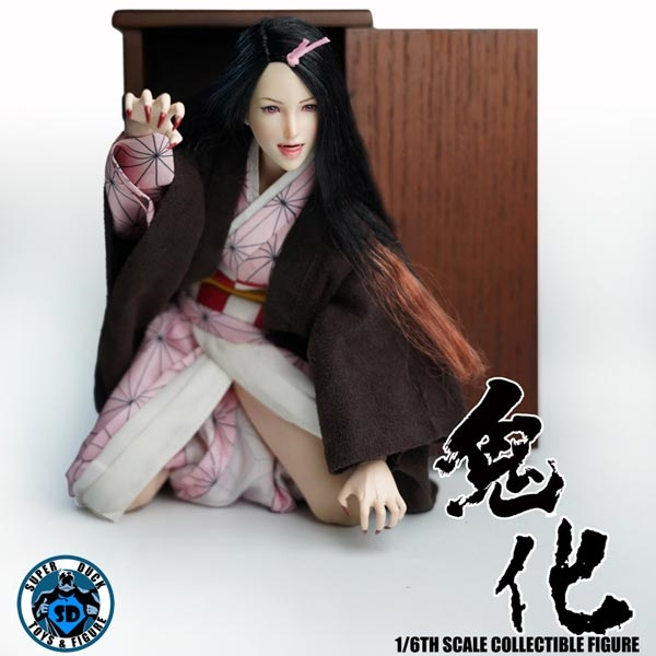 """SUPER DUCK SET049 1//6 Cosplay Series Oni Girl Head /& Clothes Set For 12/"""" Figure"""