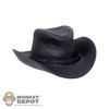 Hat: Super Duck Female Molded Black Cowboy Hat