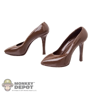 Shoes: Super Duck Female Brown High Heel Shoes