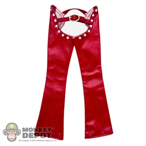 Pants: Super Duck Red Female Leatherlike Chaps
