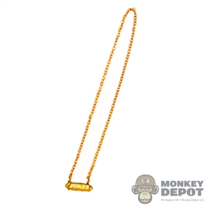 Necklace: Super Duck Gold Female Necklace w/Joker Charm