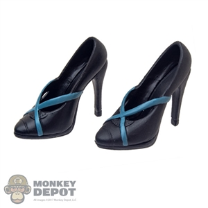 Shoes: Super Duck Female Black High-Heeled Shoes