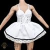 Dress: Super Duck Female White Sundress