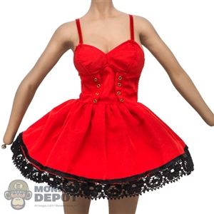 Dress: Super Duck Female Red Sundress