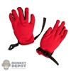 Gloves: Special Figures Mens Outdoor Red & Black Gloves w/Hand