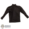 Shirt: Special Figures Mens Black Turtleneck Shirt
