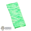 Scarf: Special Figures Green/White Neck Gaiter