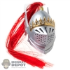 Helmet: SGToys Female Metal Knight Helmet w/Removable Face Guard