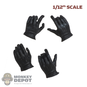 Hands: Soap Studio 1/12th Mens Black Molded Hand Set