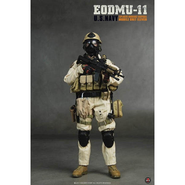 Soldier Story 1//6 Scale US Navy EODMU-11 GI Rappelling Gloves SS-055