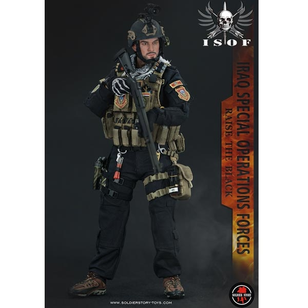 """Soldier Story Iraq Special Operations Forces """"ISOF"""" RAISE THE BLACK 1//6 Figure"""