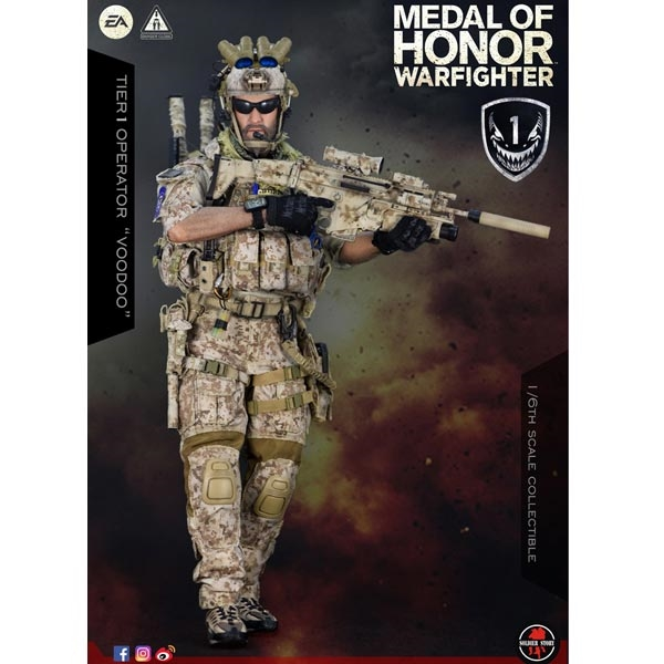 SOLDIER STORY Patches MOH NAVY SEAL WARFIGHTER VOODOO 1//6 ACTION FIGURE TOYS dam