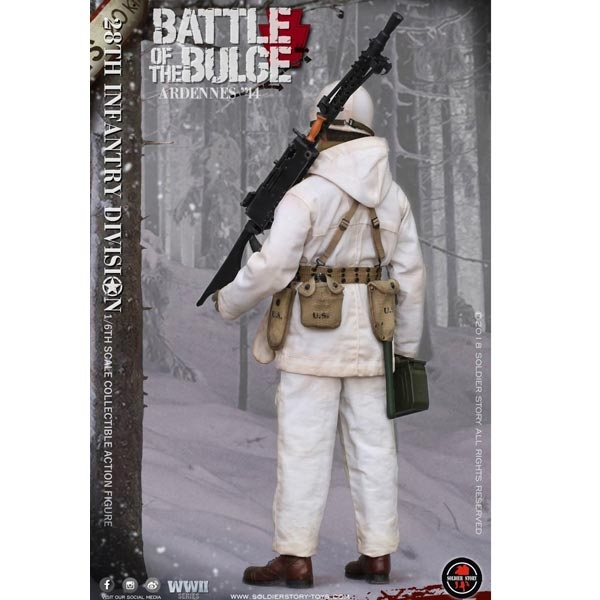 Soldier Story 1//6 SS 111 U.S Army 28th Infantry Division Ardennes M1911 model