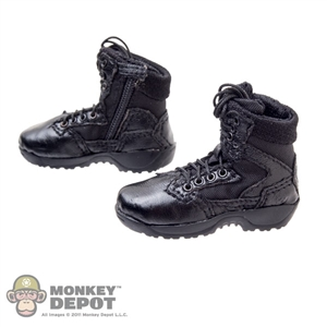 Boots: Soldier Story Black Side Zip Boots