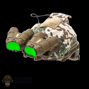 Helmet: Soldier Story Ops Core Fast Ballistic w/Cover, GPNVG-18 NVG & Green LED Module (Lights Up)