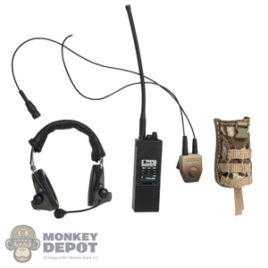 Radio: Soldier Story PRC 148 MBITR w/Antenna, Peltor COMTEC II Headset & Pouch