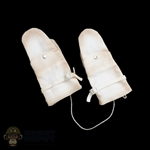 Gloves: Soldier Story White Snow Mittens (Weathered)