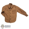 Shirt: Soldier Story Mens Brown Buttoned Shirt