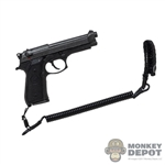 Pistol: Soldier Story M92F 9mm Pistol w/Safety Lanyard